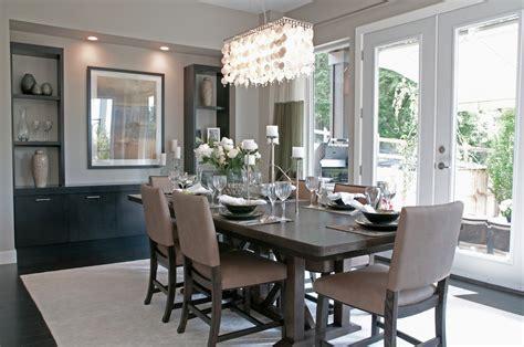 contemporary decor grey dining room idea chandelier