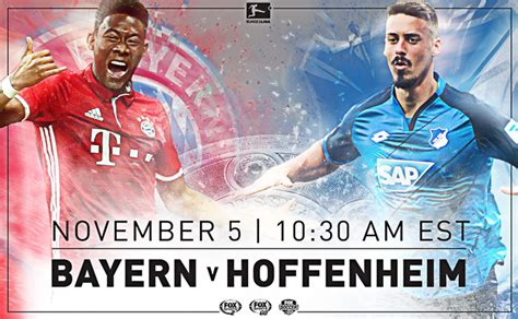 #foxsoccer #bundesliga #bayern #hoffenheim subscribe to get the latest fox soccer content. Where to find Bayern Munich vs. Hoffenheim on US TV and ...
