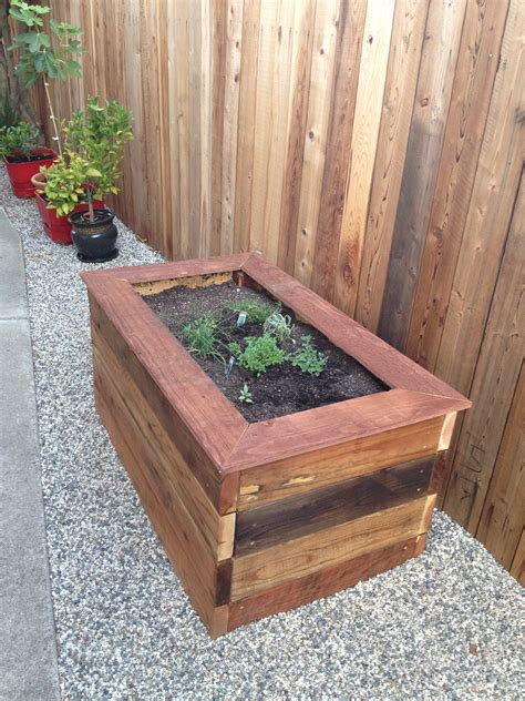 woodworking raised planter box  bench casa de wade