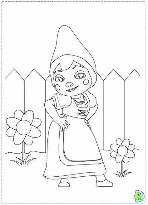 gnomeo  juliet coloring pages coloring home