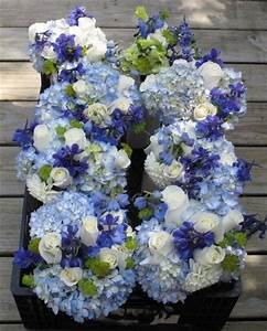Blue and White Wedding Flowers | weddings | Pinterest