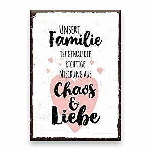 Türschilder Holz Familie : holzschild mit spruch familie chaos liebe shabby ~ Lizthompson.info Haus und Dekorationen