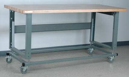 stackbin workbenches  series electric lift