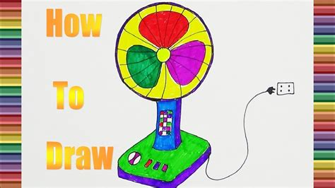 draw  electric fan color  kids  coloring  electric fan youtube