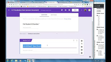 how to create a google form quiz create a google form quiz for google classroom youtube
