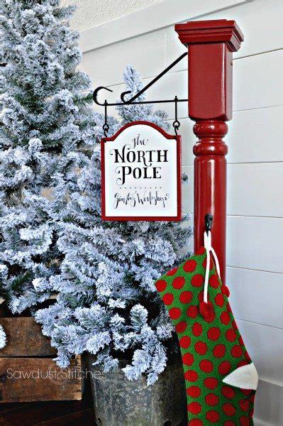 build  north pole stocking post