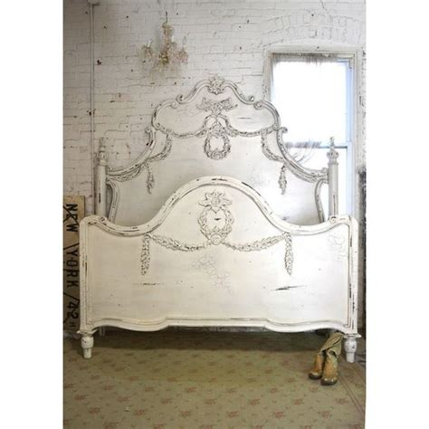 shabby chic king headboard painted cottage shabby chic french romantic queen king bed bd737 2 095 liked on polyvore