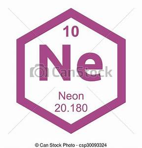 Vector Illustration of Periodic table Neon element