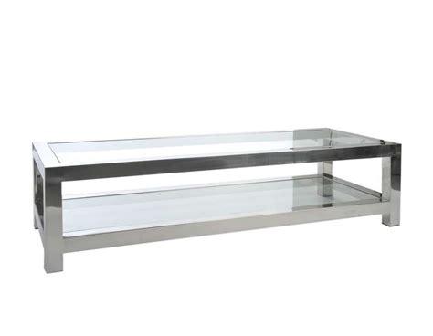 verre trempé pour table table basse verre et acier chrom 233 moderne chic