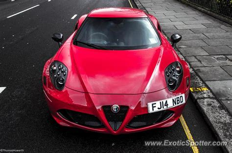 Alfa Romeo 4c Spotted In London, United Kingdom On 03/18/2015