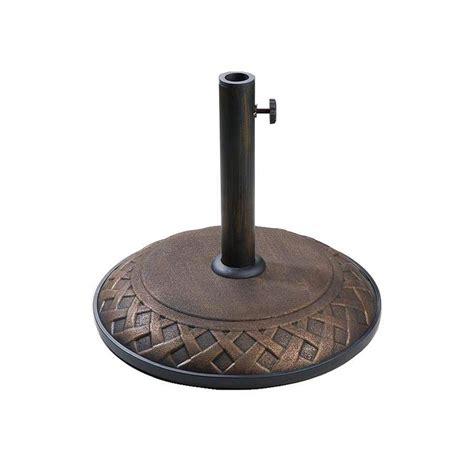 lauren company bronze concrete umbrella base  lowescom