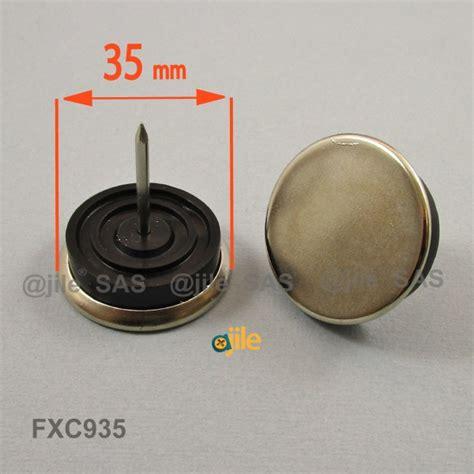 patin de chaise patin de chaise de diamètre 35 mm en acier nickelé pour