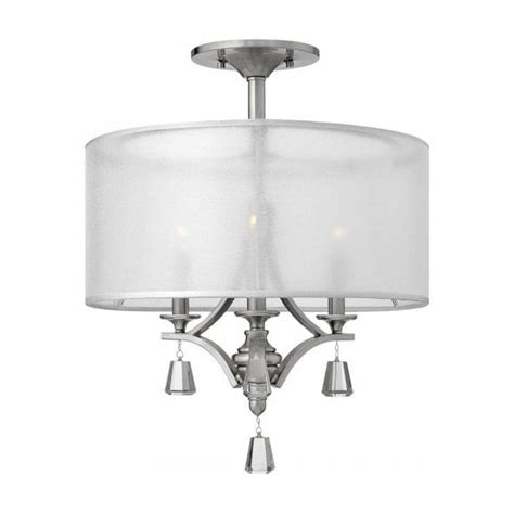 semi flush fitting low ceiling light with sheer see