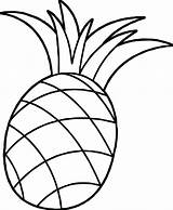 Pineapple Coloring Colouring Clipart Pinapple Pineapples Cartoon Apple Drawing Pine Fruits Awesome Wecoloringpage sketch template