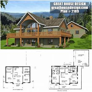 2- Story Rustic Home with Large Windows ICF Plan # 2189 ...