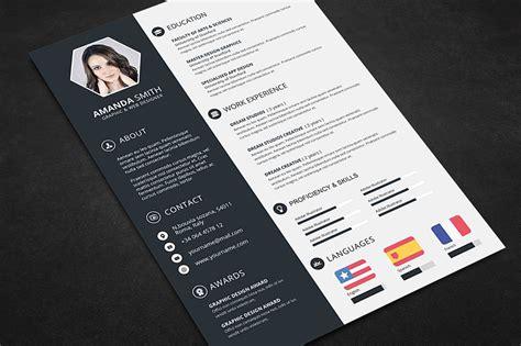 creative resume cv template  cover letter