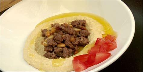 cuisine libanaise houmous hummus et viande hachée par racha bassoul di stasio