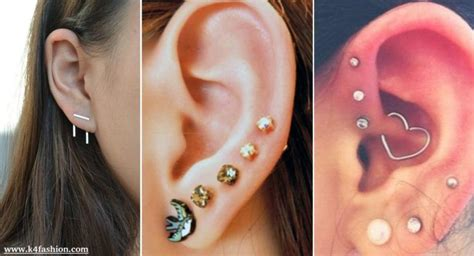 cute adventurous ear piercings ideas  fashion