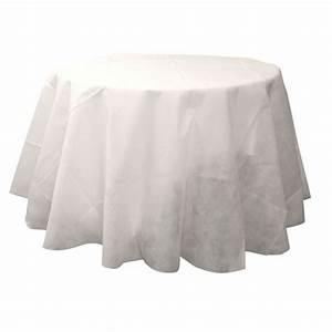 Nappe Blanche Ronde : nappe ronde blanche 240 cm en tissu intiss badaboum ~ Teatrodelosmanantiales.com Idées de Décoration