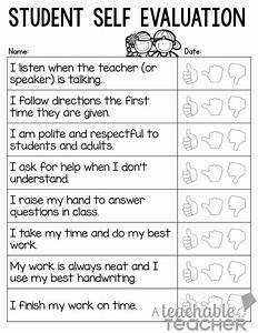 A teachable teacher parent teacher conference tips and for Student self evaluation templates