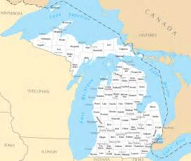 Michigan Map with Cities and Towns