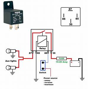 Relay   2 Pole Relay Wiring Diagram   Relay