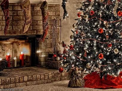 Christmas Warm Fireplace Freechristmaswallpapers Desktop Background Wallpapers