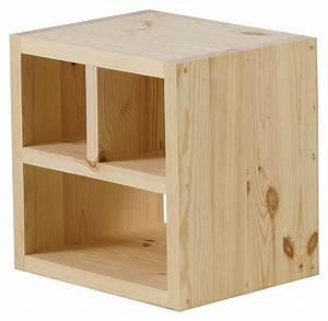 Cube De Rangement Leroy Merlin : cube en bois brut homeandgarden ~ Dailycaller-alerts.com Idées de Décoration