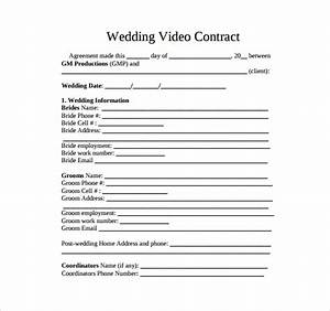 videography contract template 11 download free With free wedding videography contract template