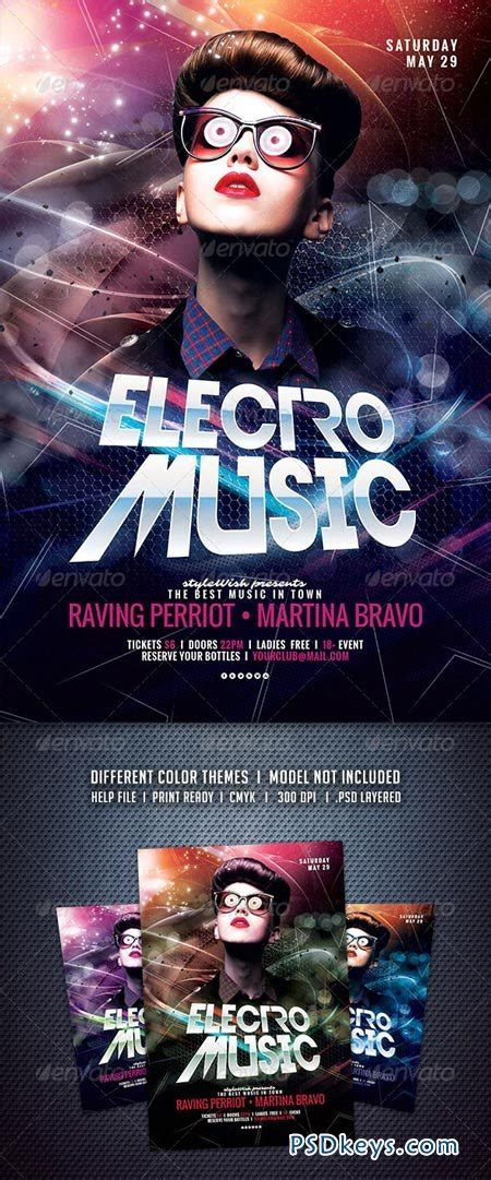 Electro Flyer Poster Template Vol 4 Torrent by Flyer Templates 187 Page 386 187 Free Download Photoshop