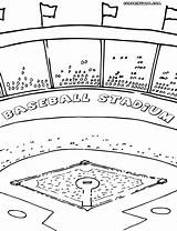 Baseball Field Coloring Pages Printable Print Getcolorings sketch template