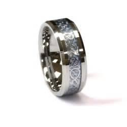 mens wedding bands silver amz 8mm tungsten carbide ring silver celtic on sky 39 s wedding band ebay