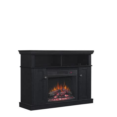 duraflame electric fireplace insert lowes shop style selections 46 25 in w 4 600 btu black wood