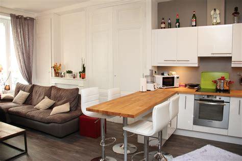 salon cuisine 30m2 54 vue salon cuisine ouverte après travaux home id