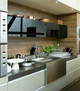 Credence Cuisine Moderne : credence cuisine bois meuble design moderne maison de ~ Dallasstarsshop.com Idées de Décoration