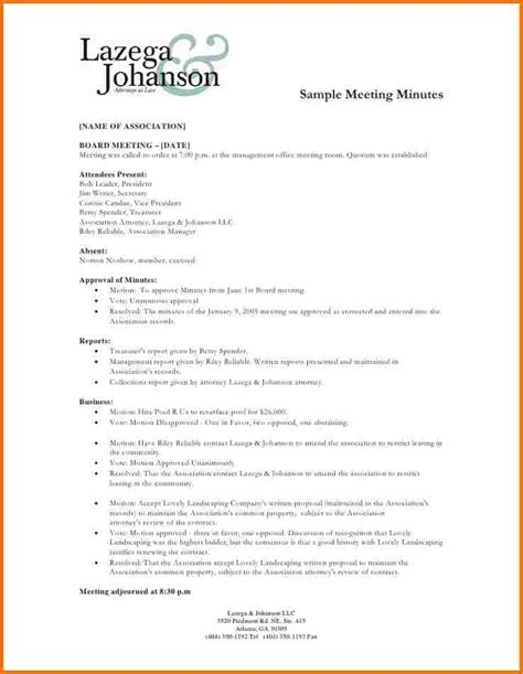 sample meeting minutes authorization letter