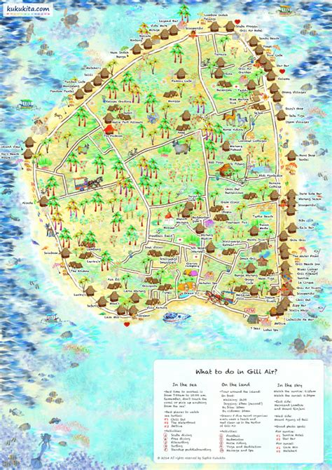gili air map     gili air