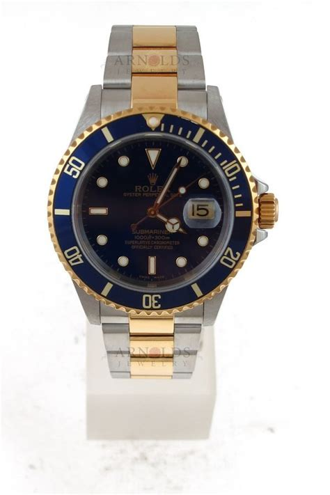 FS: Rolex Two Tone Submariner Blue Dial And Blue Bezel ...