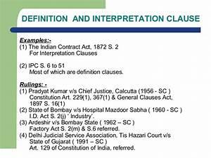 Internal aids to interpretation of law