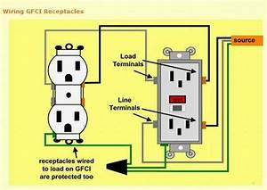 How To Wire To Gfci U0026 39 S With One Line  - Electrical