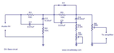 Bass Circuit Electronic Circuits Diagrams