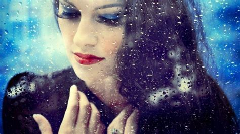 sad girl   rainy mirror wallpaper  baltana