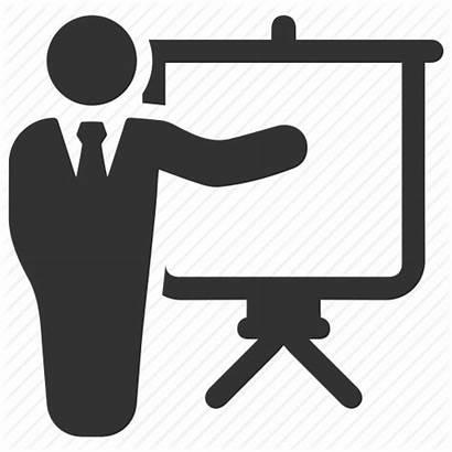Icon Training Presentation Icons Business Teacher Seminar