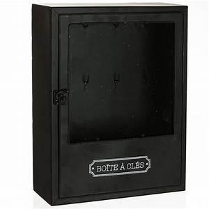 Boîte à Clés : boite cl s design vintage industriel avec 8 crochets pour clefs m tal ~ Teatrodelosmanantiales.com Idées de Décoration