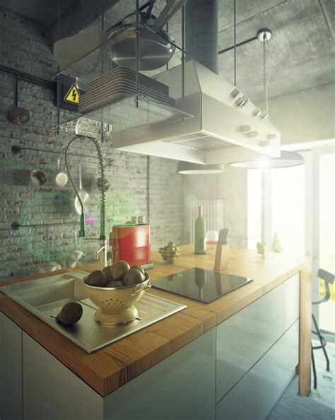 Industrial Style Kitchen by Casual Loft Style Living