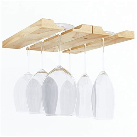 hanging under cabinet stemware wine glass holder rack