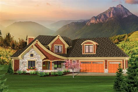 Angled Garage Home Plan  89830ah  1st Floor Master Suite