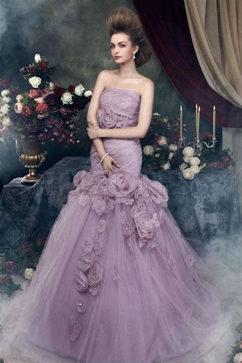 wedding dress with color so charming on a purple wedding gown vivanspace