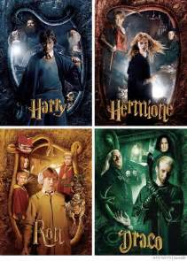 Harry Potter Draco Malfoy and Hermione Granger
