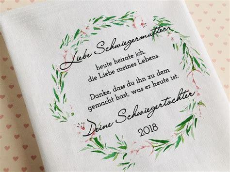 geschenk schwiegermutter taschentuch gastgeschenke